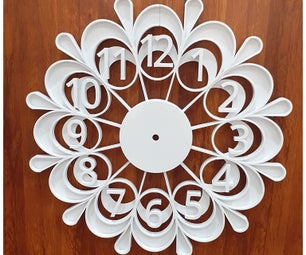 Decorative Wall Clock - 3D Printed