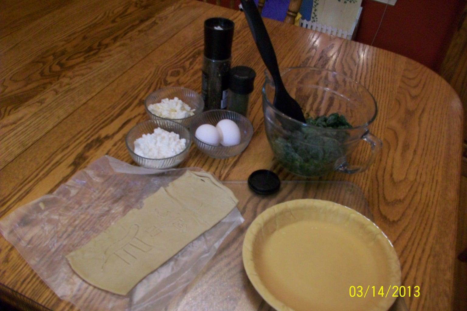 Ingredients for Spanako(Pi)ta