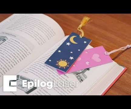 Laser Cut Paper Bookmarks