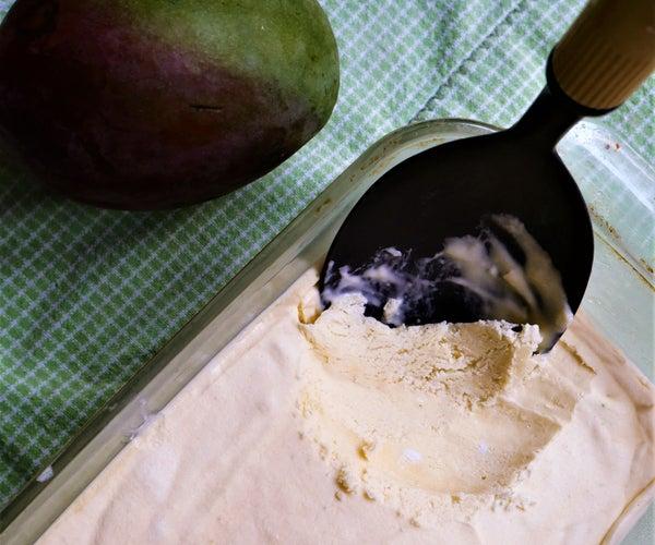 No-Churn Mango Lime Ice Cream (Sugar-Free)