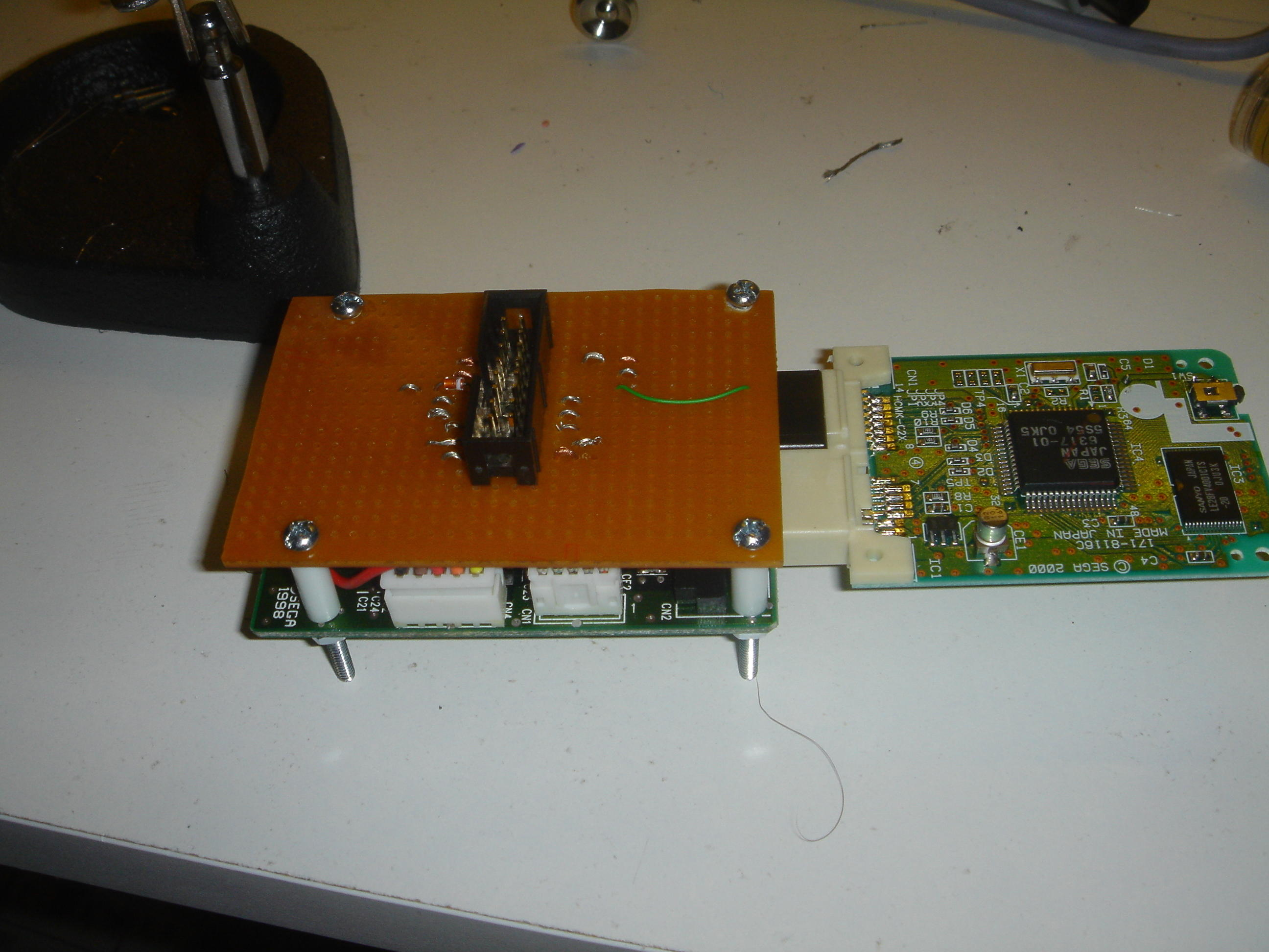 How to Piggyback a Dreamcast Controller on a Universal PCB