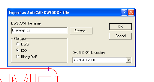 Creating a DXF File