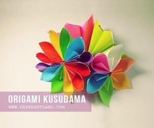 How to Make an Origami Flower ( Flor De Origami)   Origami Kusudama