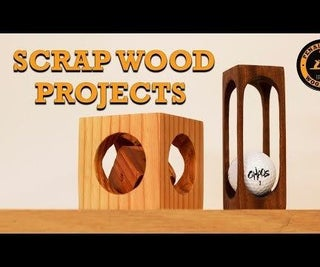 Scrap Wood Projects - Impossible Golf Ball and the Cube Inside a Cube