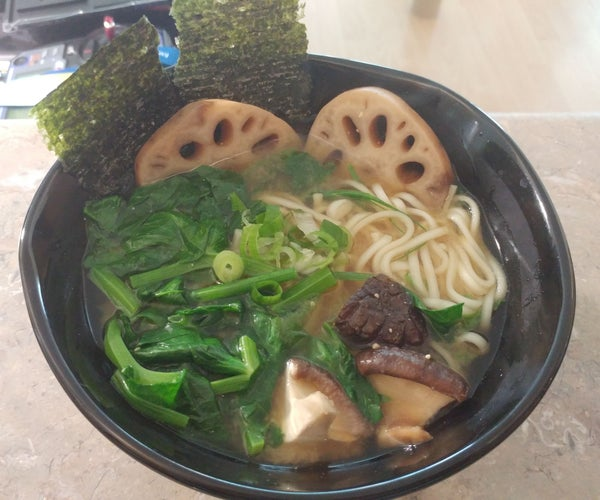 Rich and Flavorful Vegan Soup Stock + Udon