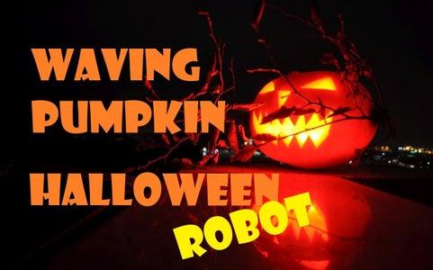 Waving Pumpkin Halloween Robot