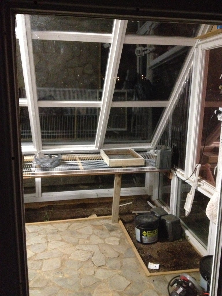 Interior Growing Tables and Porch Installation.