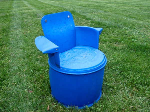 Recycled 55 Gallon Barrel Chair