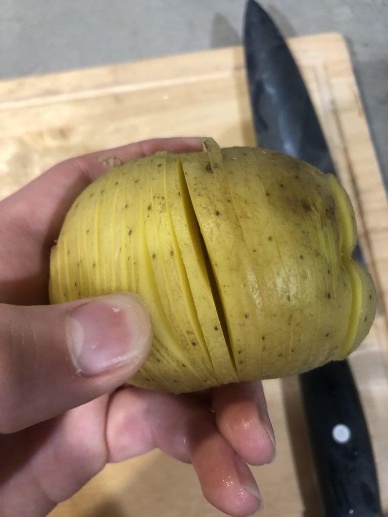 Step 3: Hassleback Potatoes