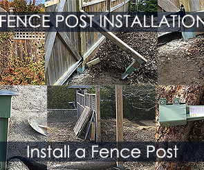 How to Install a Fence Post