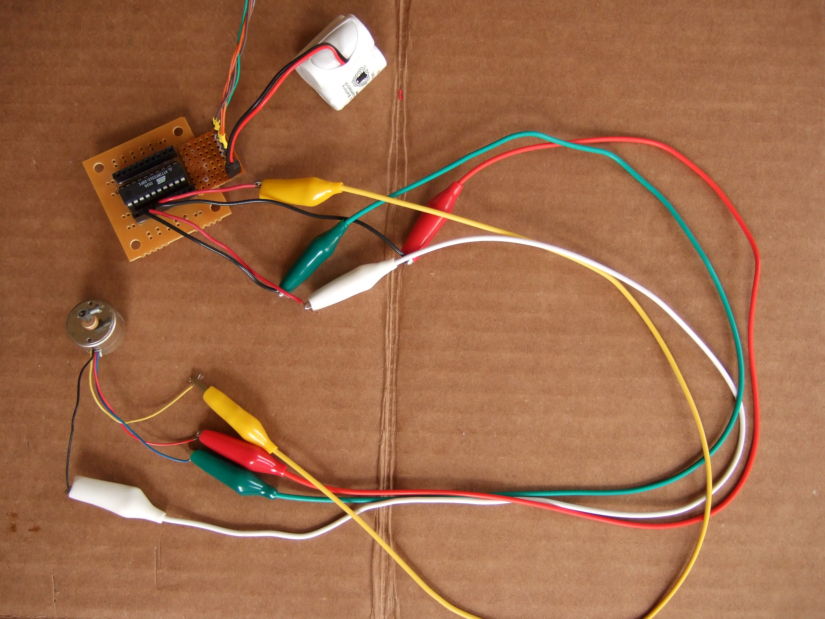 Drive a Stepper Motor with an AVR Microprocessor