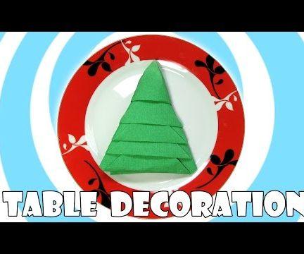 Napkins Christmas Tree (Table Decoration)