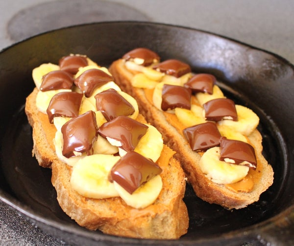 Peanut Butter Banana Chocolate Sandwiches