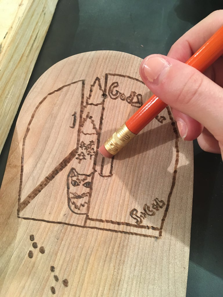 Phase 2-Step 1: the Last Sanding, Pyrography, and Staining