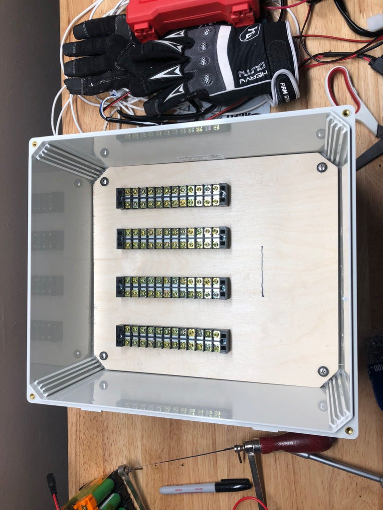 Attach Power Distribution Connection Strips
