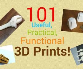 101有用,实用,功能性3D打印!