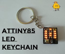 Attiny LED Letter Keychain
