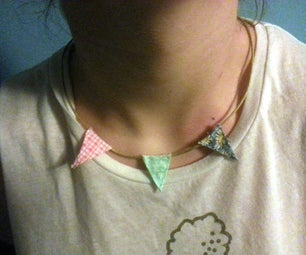 Cute Bunting Necklace