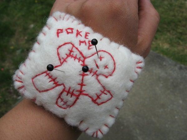 Poke-Me Pincushion With Wristband