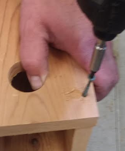 Fourth Step of Assembly (Attaching the Left Swinging Side to the Assembled Piece)