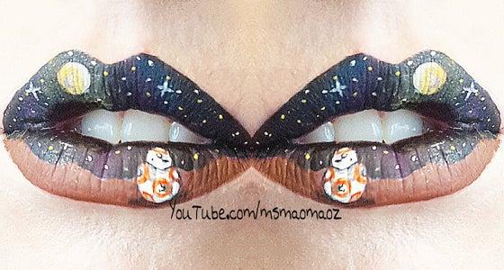 BB8 Lip Art