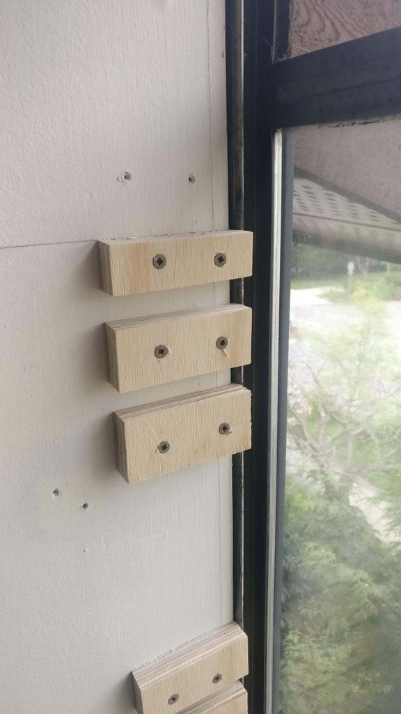 Install Blocks Into Window Sill