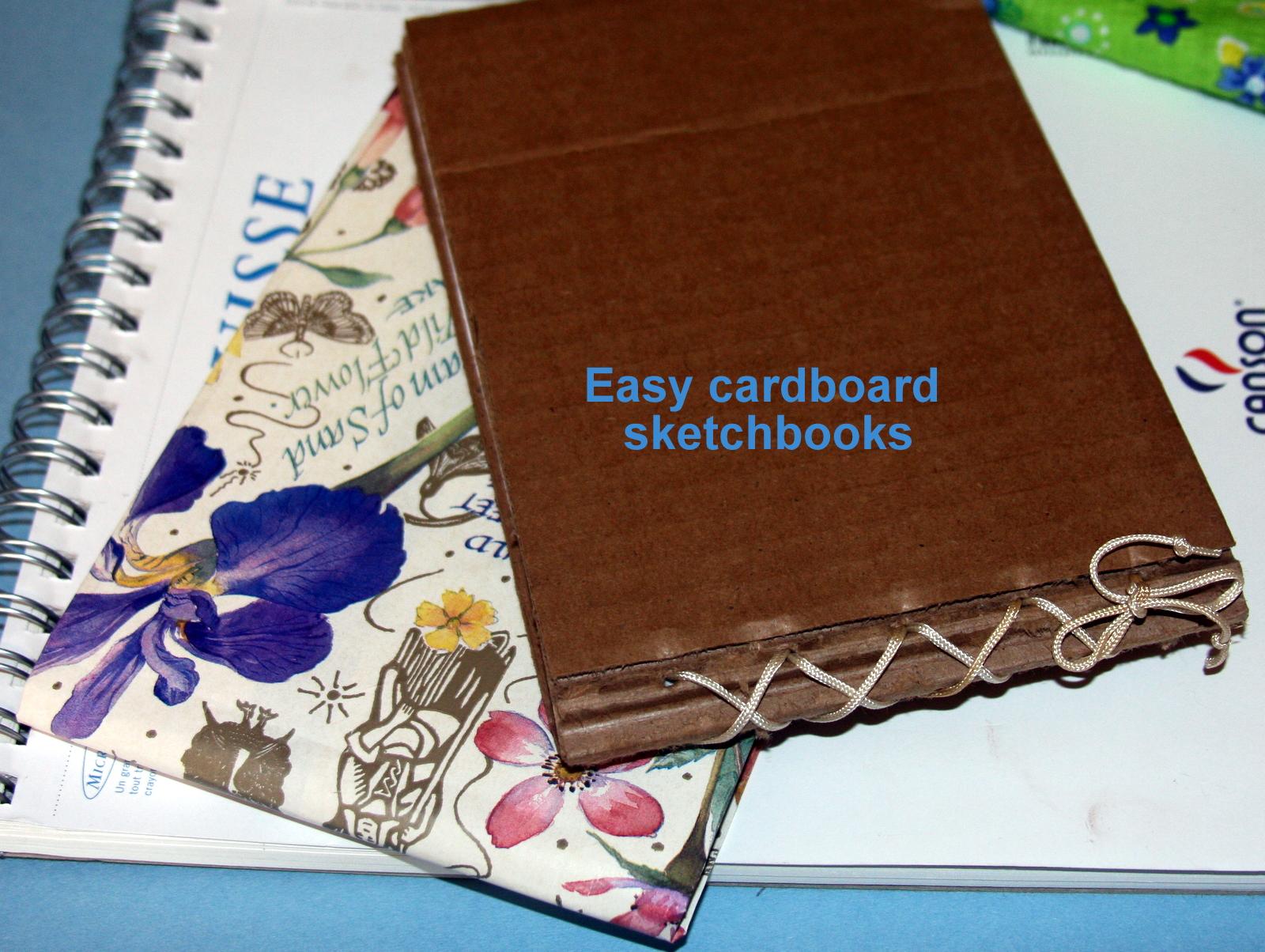 Easy cardboard sketchbook