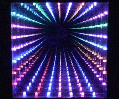 LED Infinity Mirror, 32 LEDs, Selectable Patterns, Quality Frame