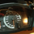 digitale Ganganzeige im Motorradtachometer