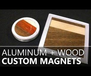 Custom Wood & Aluminum Magnets From a Hard Drive