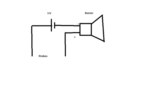 Continuity Tester Using Buzzer and Battery
