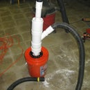 Diy cyclonic dirt seperator from pvc bits and a bucket
