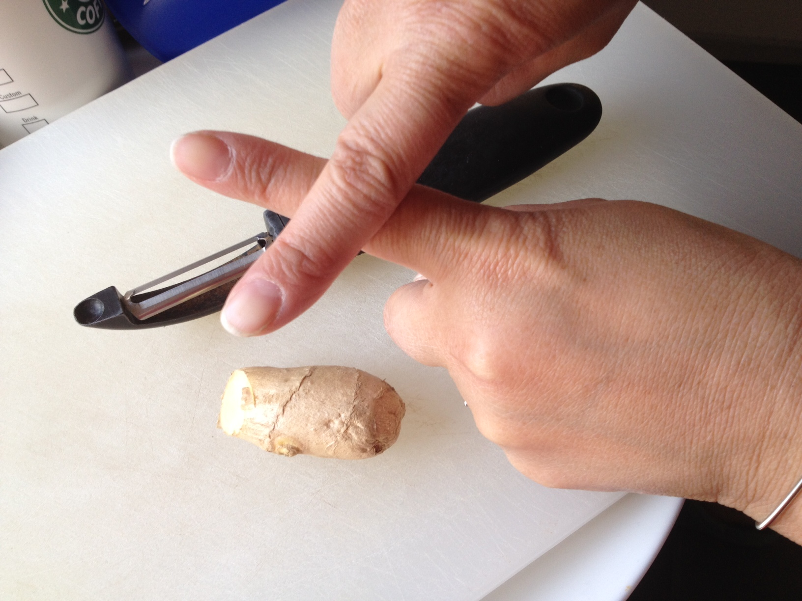 A better way to peel ginger