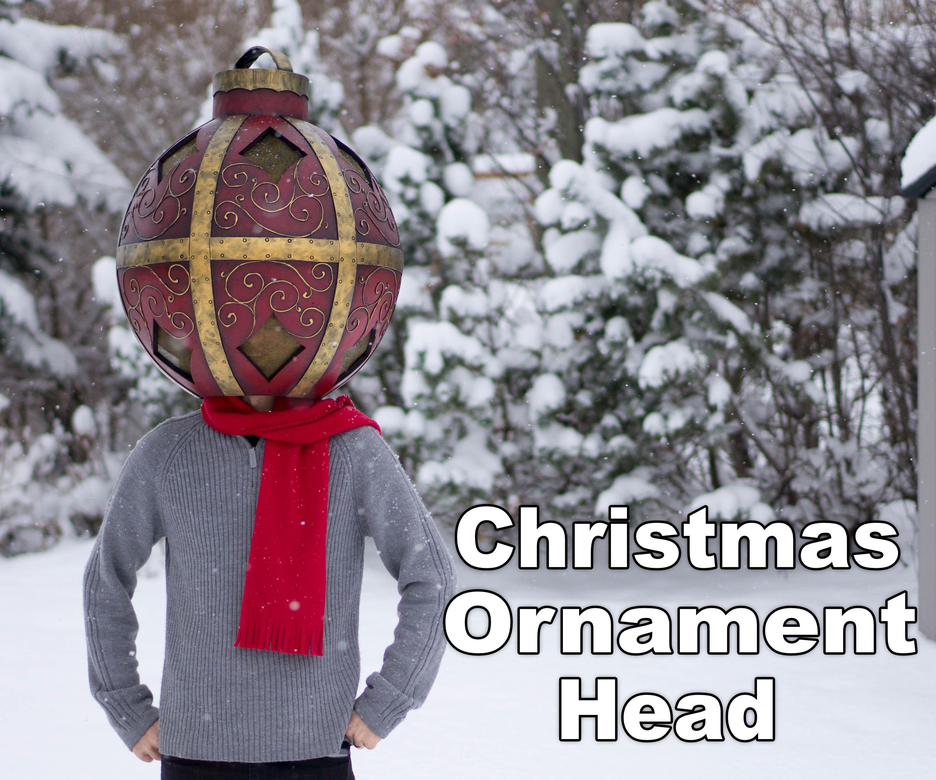 Giant Christmas Ornament Bobblehead Costume