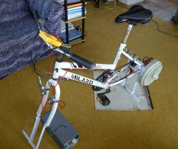 Stationary Bike Generator From Washing Machine