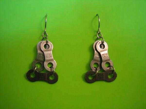 DIY Bicycle Chain Earrings