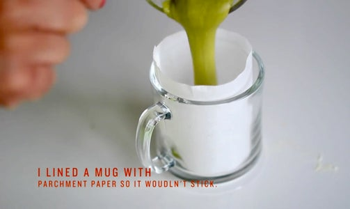 Line a Mug and Decant Your Ingredients