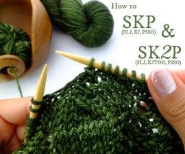 SKP & SK2P – 2 Easy Decreasing Knitting Stitches!