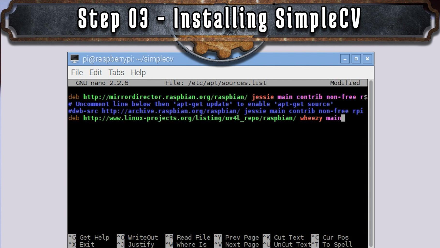 Installing SimpleCV