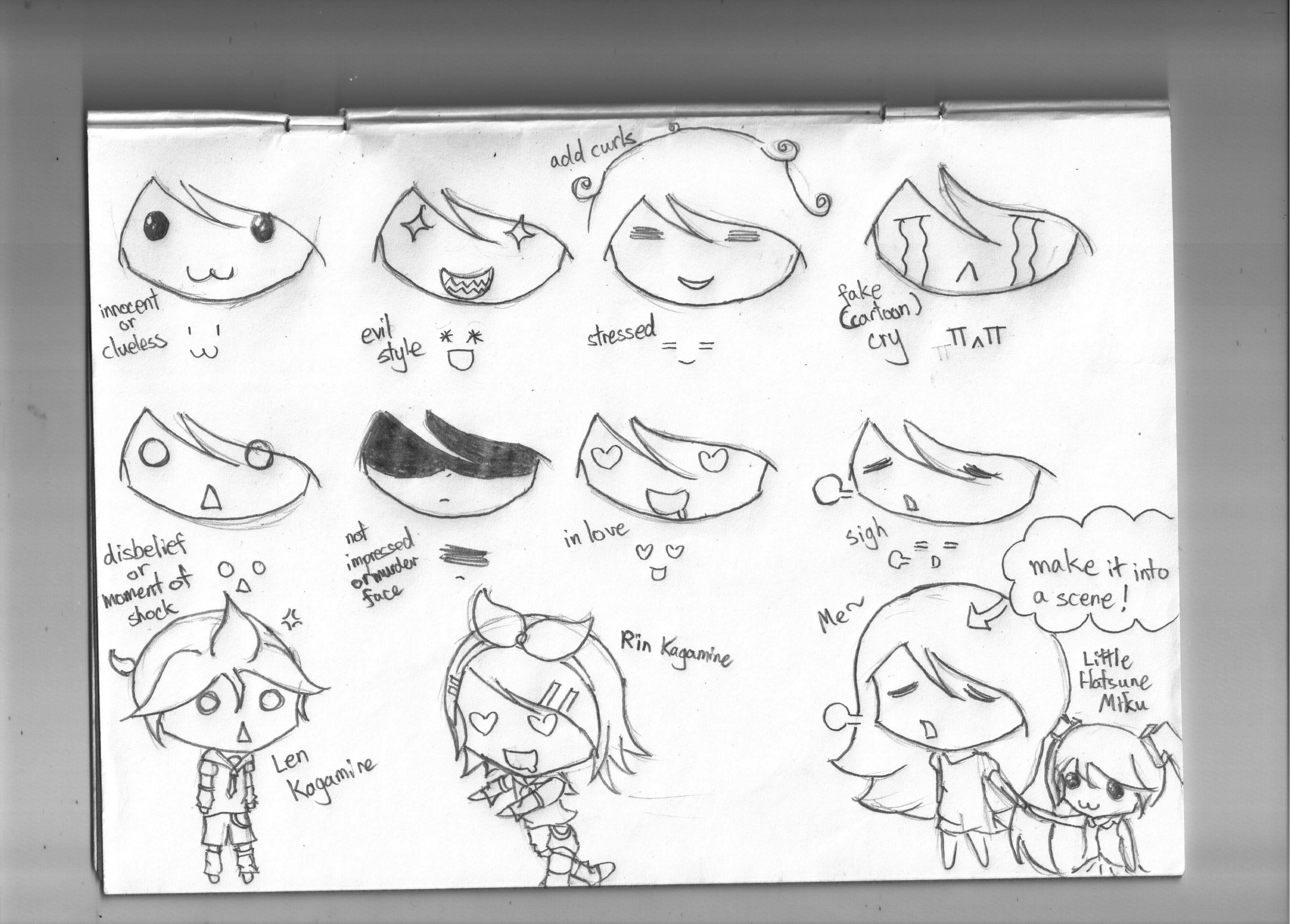 Chibi Expression Reference