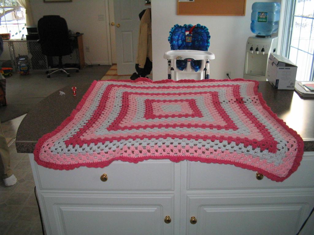 Large Granny Square Baby Blanket