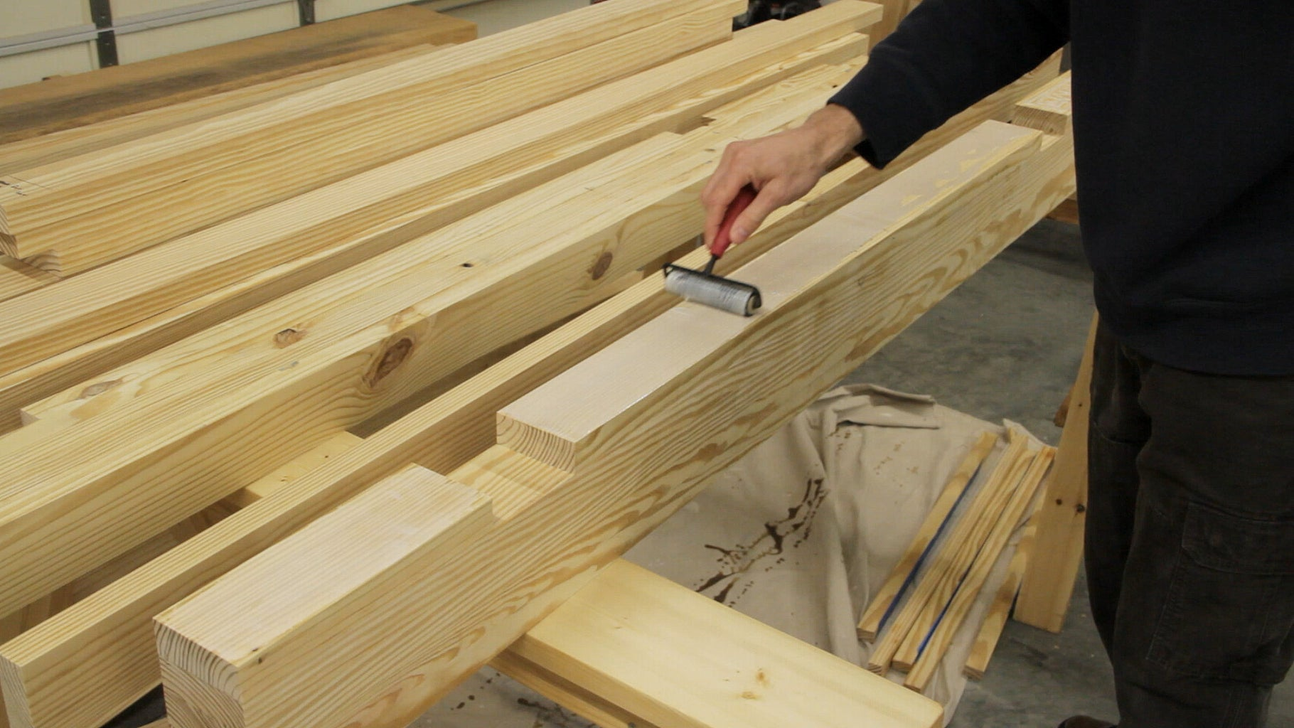 Laminating the Mortises in the Top