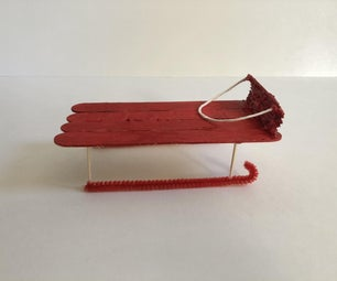 Popsicle Stick Sled Decoration