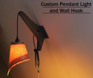 Custom Pendant Light and Wall Hook