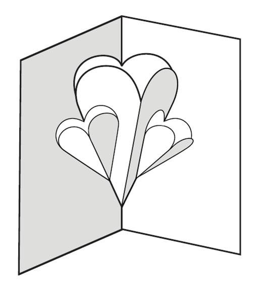 Make a Pop-up Card of Hearts