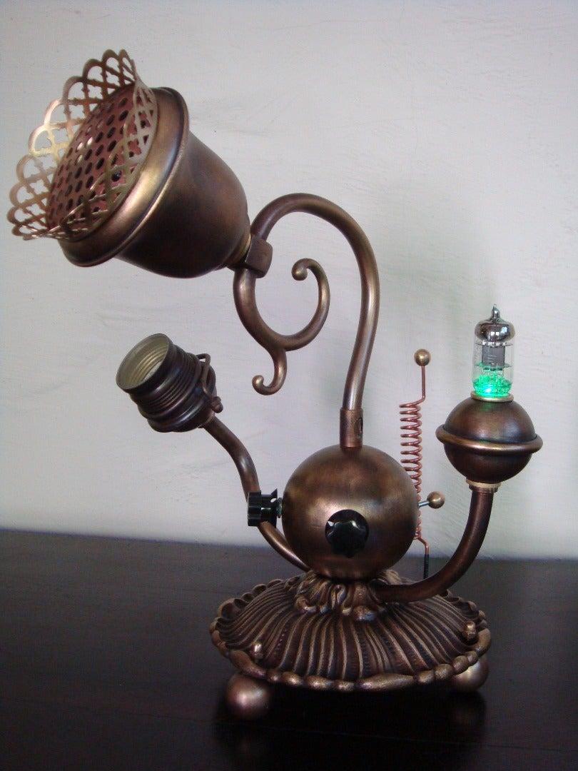 A Steampunk Brass Tube Radio