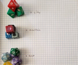 Make a Map by Rolling Some Dice