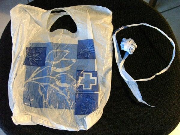 "Plastic Bag Yarn (""shortcut"")"