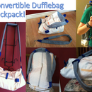 How to Make a Backpack-Dufflebag Convertible