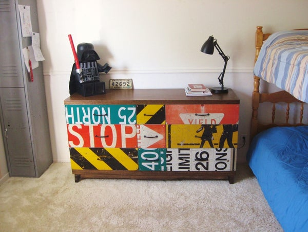 Revamp Old Dresser With Road Signs